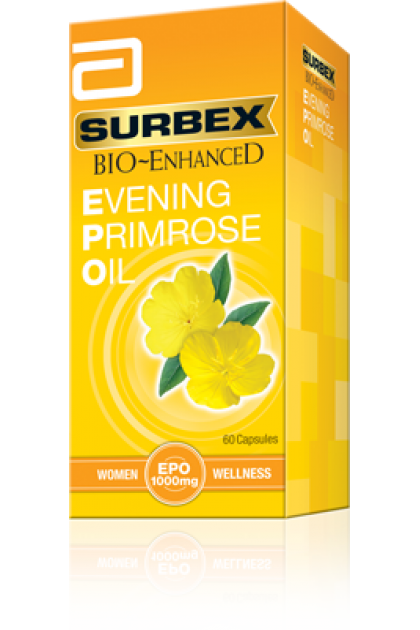 Abbott Surbex Bio Enhanced Evening Primrose Oil 1000mg 60's