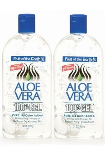 Fruit of the Earth Aloe Vera 100% Gel 2 x 56g