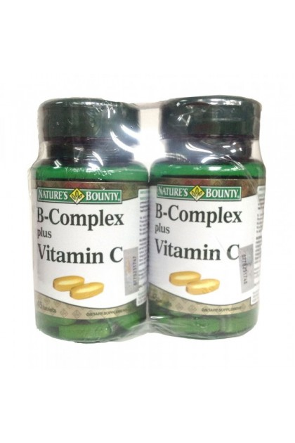 Nature's Bounty B-Complex plus Vitamin C 2 x 45's