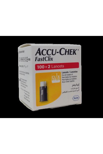 Accu-Chek Fastclix Lancets 100+2's