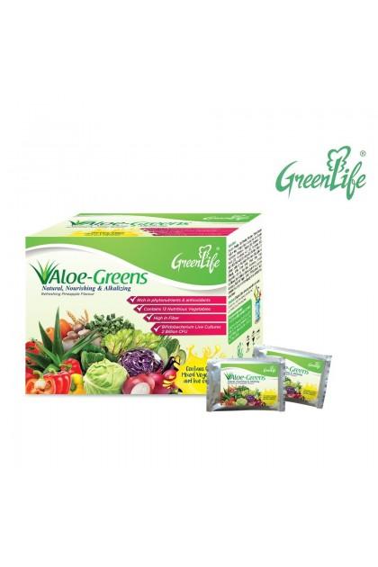 Greenlife Aloe-Greens 2 boxes x 15 sachets