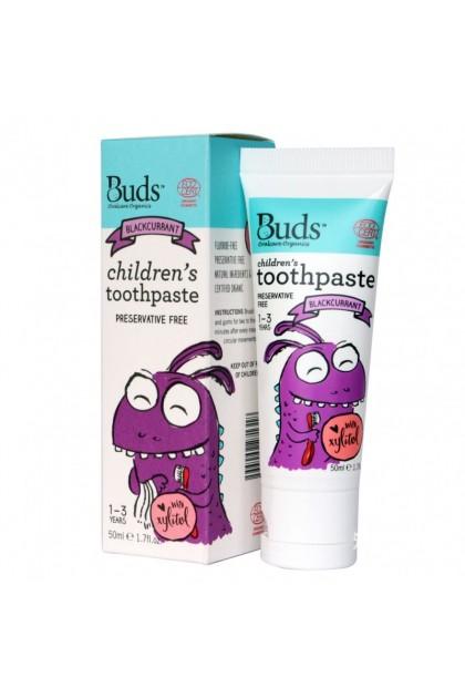 Buds Organic Children's Toothpaste Blackcurrant 1-3 years (50ml)