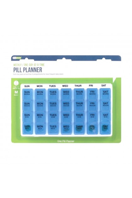 Ezy Dose One Day At A Time Pill Planner  (Medium Size) *Color May Vary*