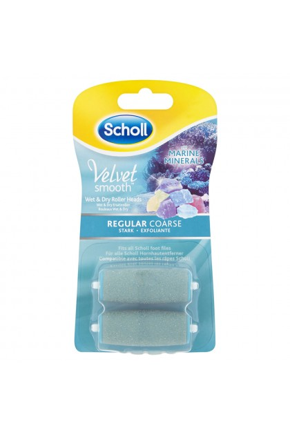 Scholl Velvet Smooth Regular Coarse Wet and Dry Roller Head with Marine Minerals (2pcs)