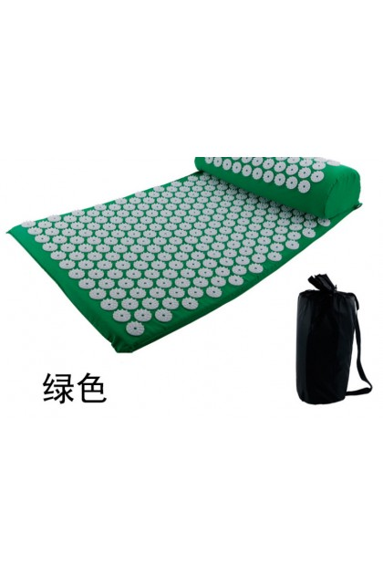 Acupressure Mat Spike Massager  Body Back Pain Relieve Stress Yoga Shakti Massage Acupuncture (Mat+Pillow)