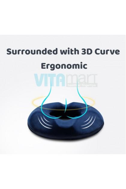 Hemorrhoids Cushion Firm Memory Foam Absorb Pressure Ergonomic Seat