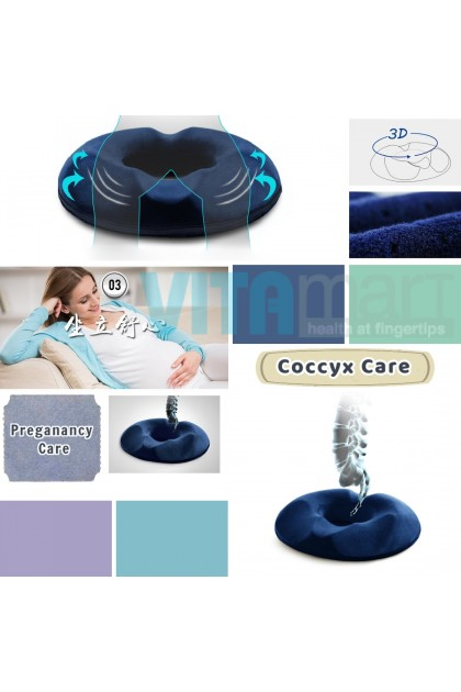 Hemorrhoids Cushion Firm Memory Foam Absorb Pressure Ergonomic Seat