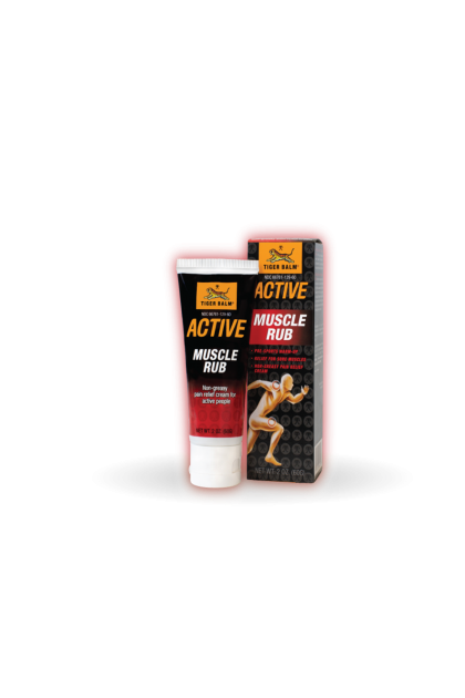 Tiger Balm Active Muscle Rub 60g (Pre-Workout Pain Relief)