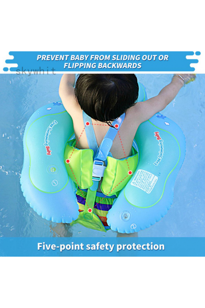 Swimbobo Baby Swimming Float with Safety Support Bottom (3-36 Months) Pump Included